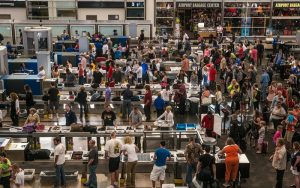 DENVER, CO - JUNE 16: The TSA security lines in the main terminal are crowded with vacation travelers on June 16, 2013, in Denver, Colorado. Located 25 miles from downtown, Denver International Airport is the largest airport in the United States. (Photo by George Rose/Getty Images)