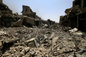 Old-City-of-Mosul-Iraq-reduced-to-rubble-by-Iraq-U.S.bombing-and-shelling-of-ISIS-forces-in-spring-and-summer-2017-photo-by-Reuters